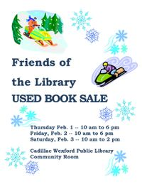 Friends Of The Cadillac Wexford Public Library Used Book Sale - Cadillac wexford