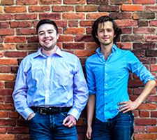 Photograph of Michael Harrington and Andrew Brown by Andrea Holther-Cruz. High resolution version availab